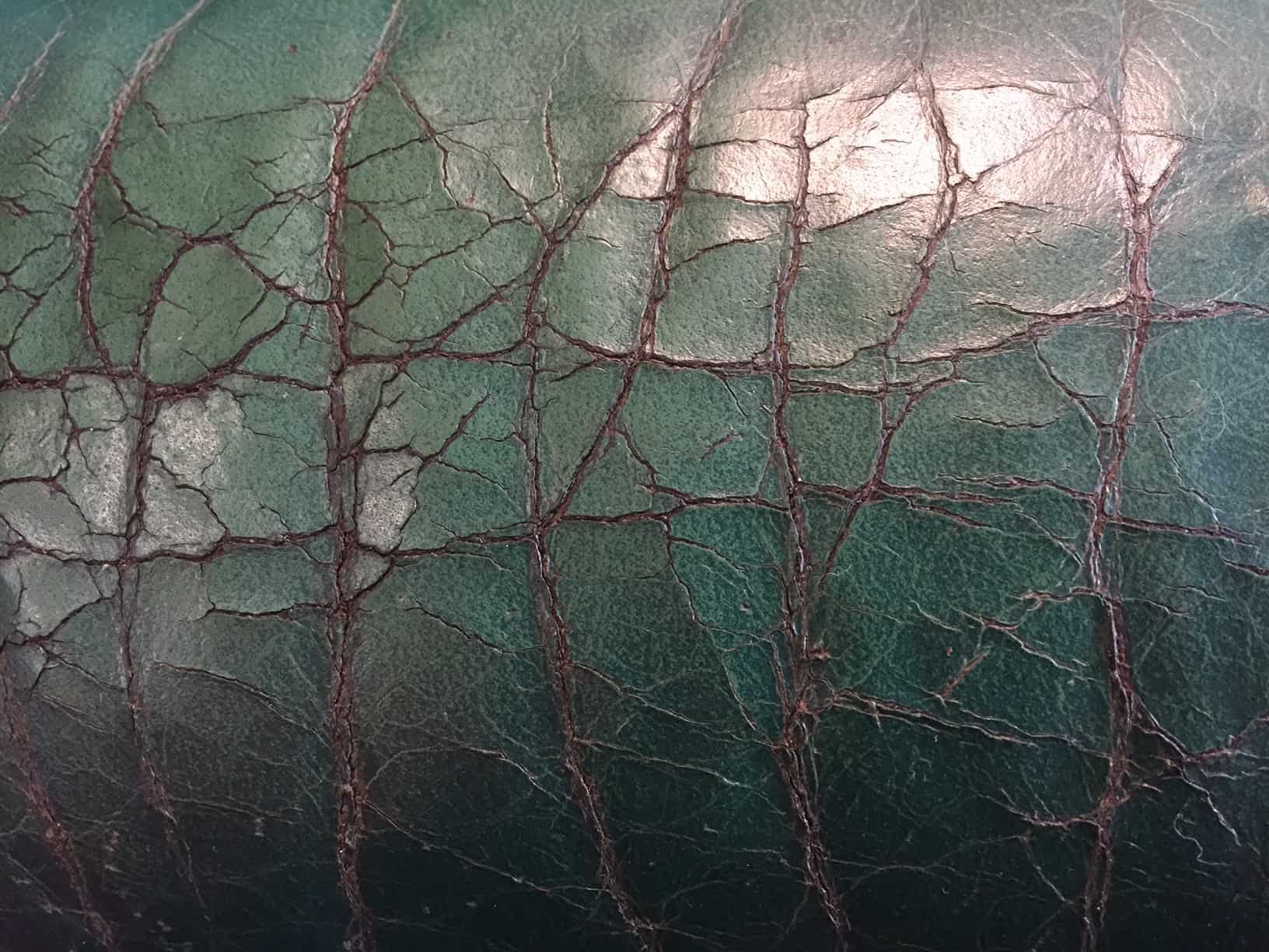 Dry, cracked leather