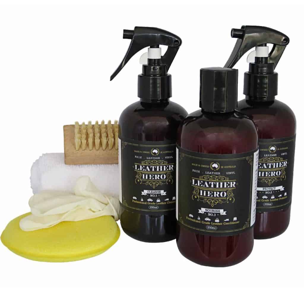 Leather Care Kit Cleanse, Nourish, Protect Kit - Leather Hero