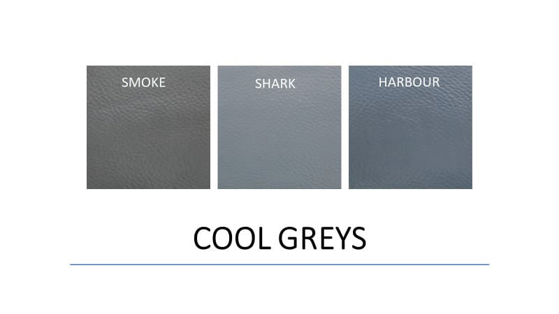 Leather Paints - Auto Cool Greys - Leather Hero