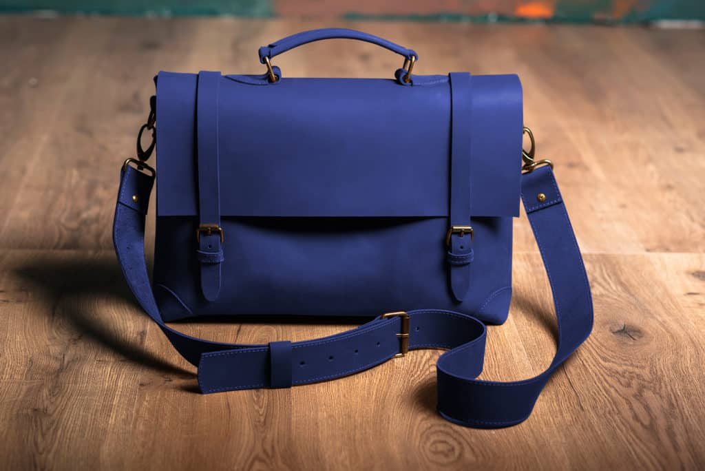Leather Paint - Blue Bag - Leather Hero