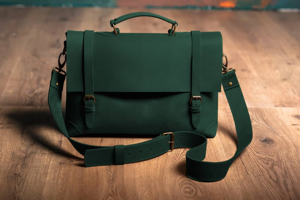 Leather Paint - Green Bag - Leather Hero