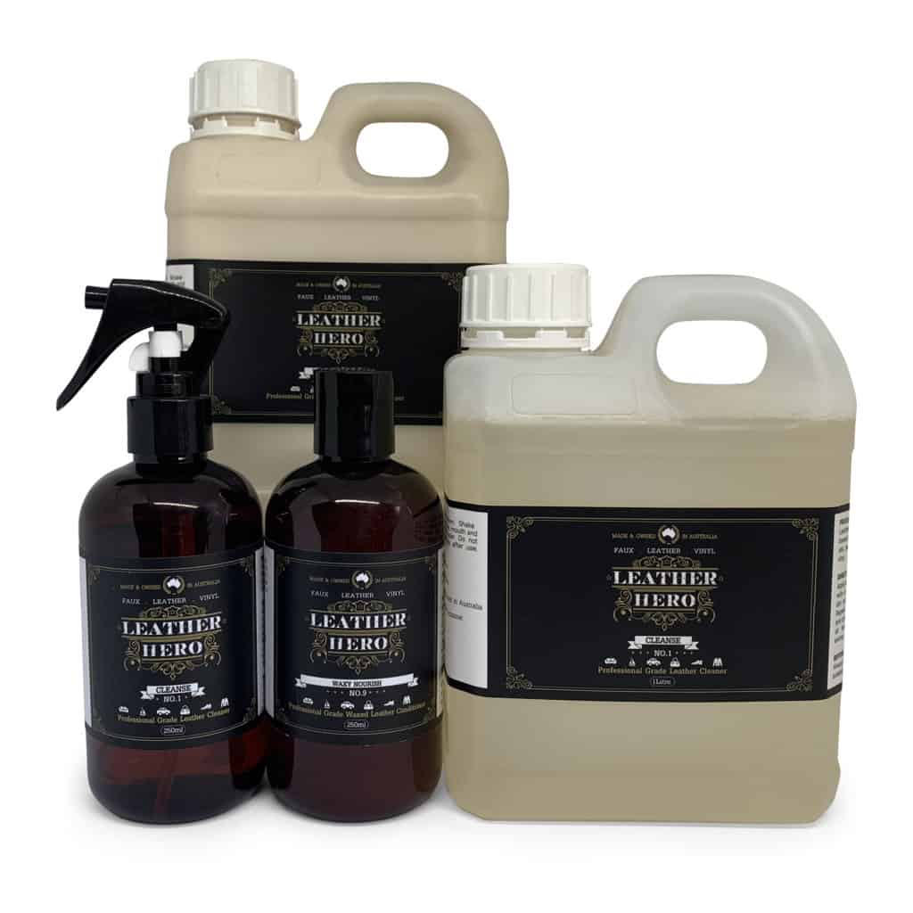 Waxed Leather Care Kit = Leather Hero