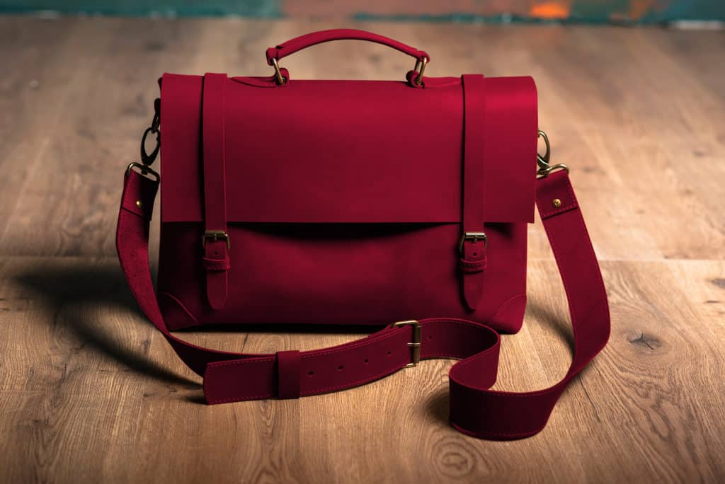 Leather Paint - Maroon Bag - Leather Hero