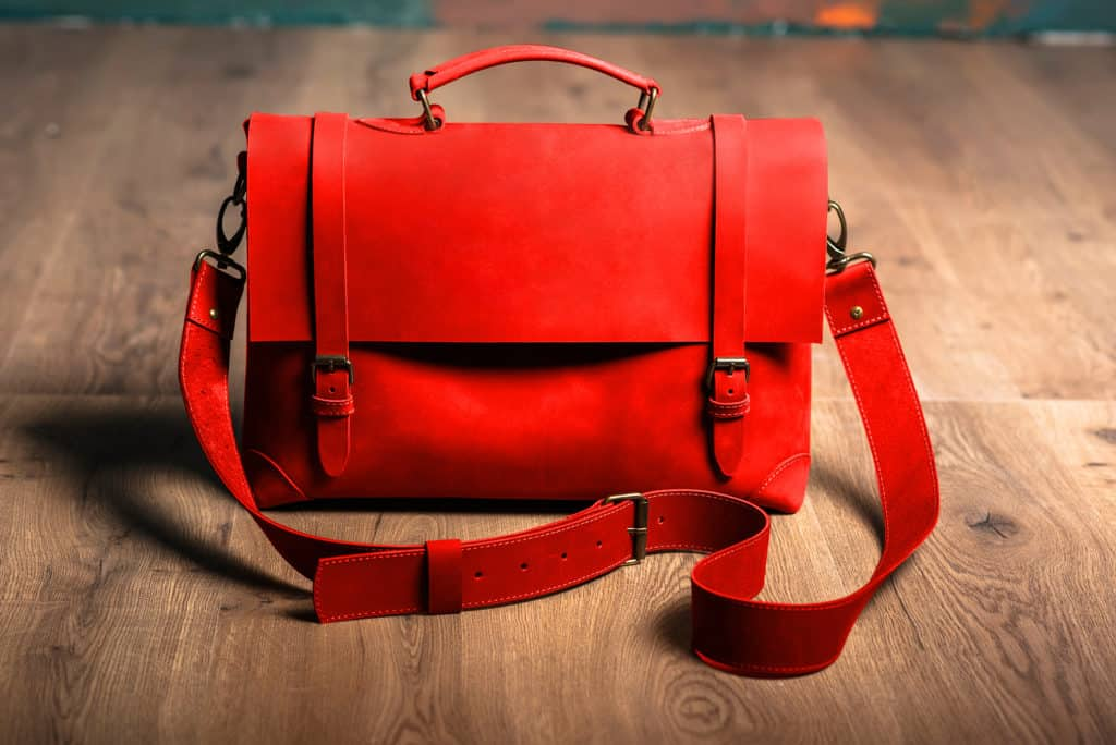 Leather Paint - Orange Bag - Leather Hero