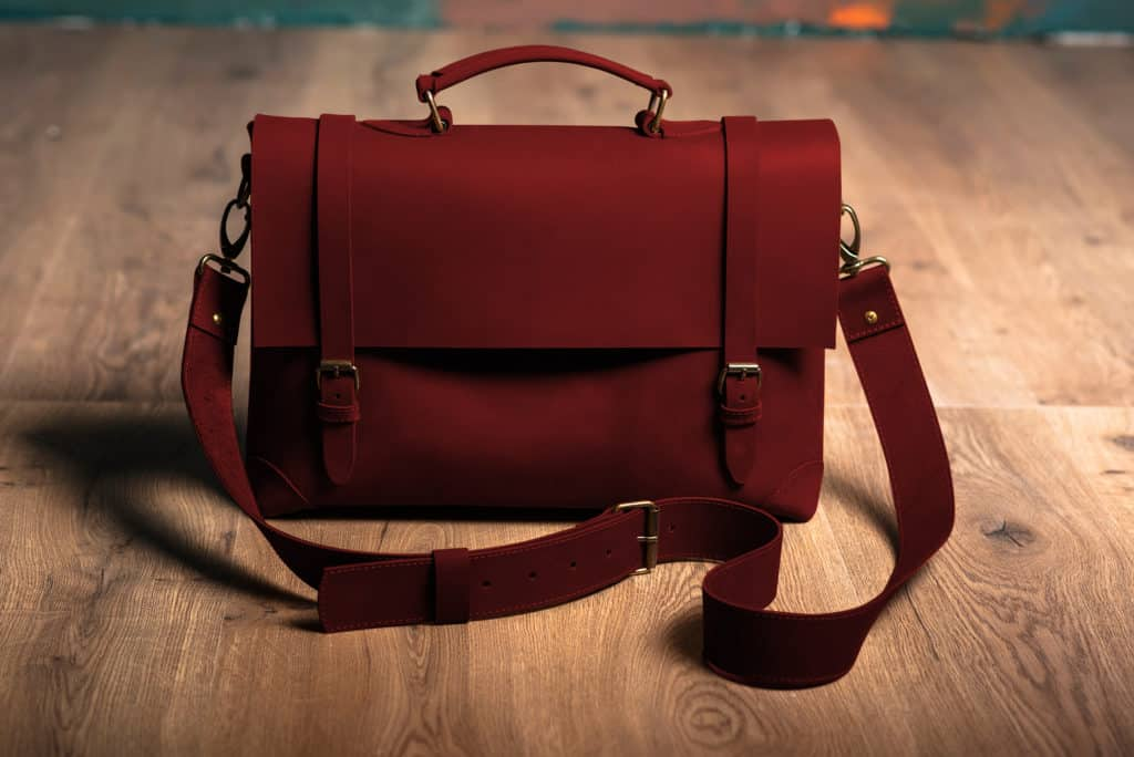 Leather Paint - Red Tan Bag - Leather Hero