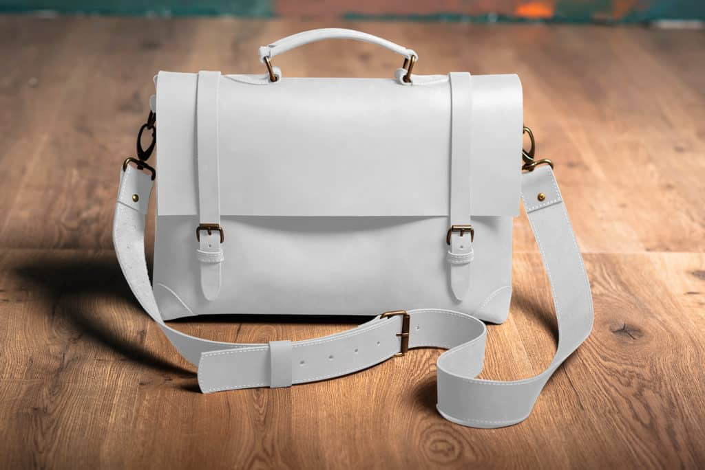 Leather Paint - White Bag - Leather Hero