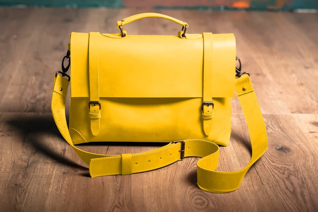 Leather Paint - Yellow Bag- Leather Hero