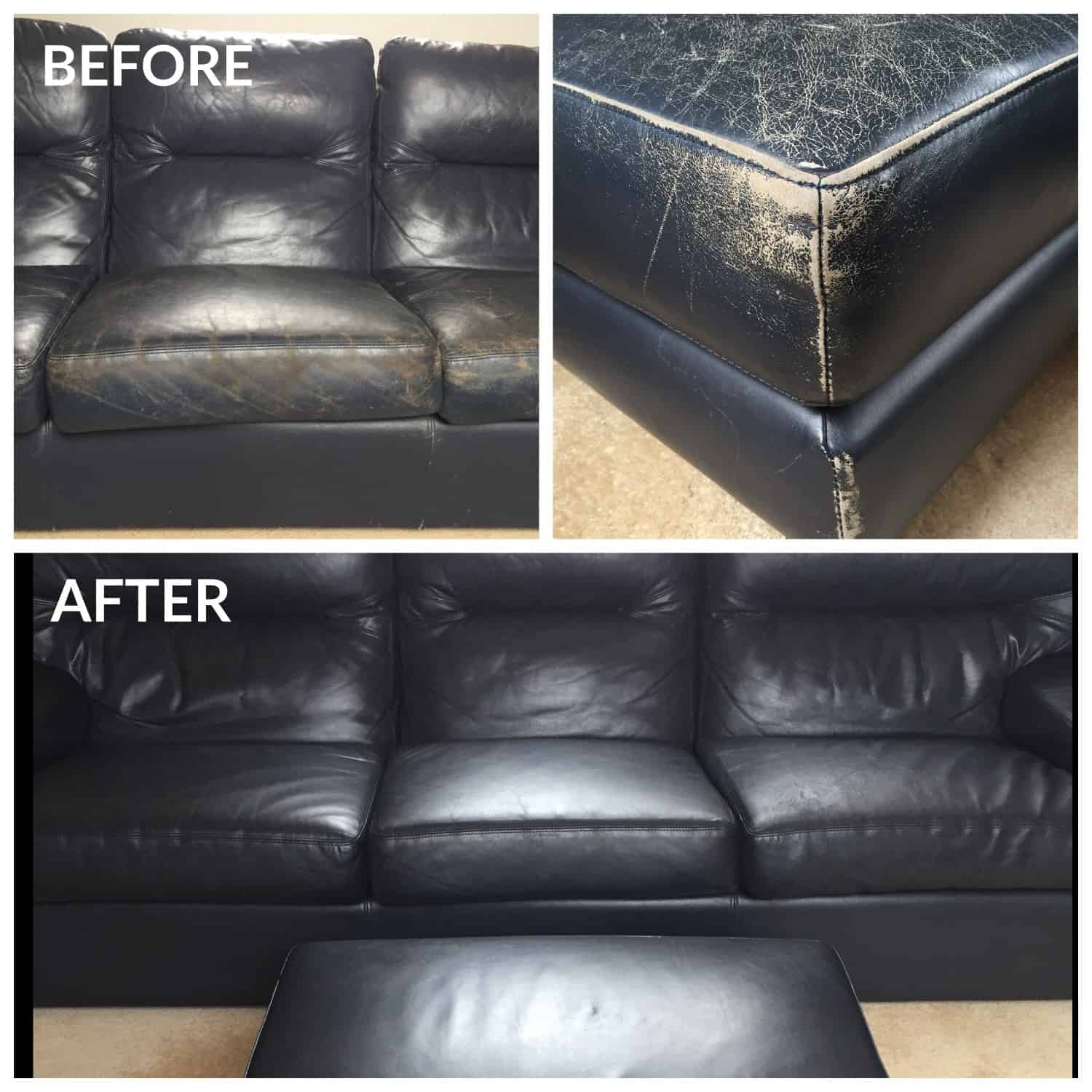 Leather Hero - Colour Restoration - Blue Lounge